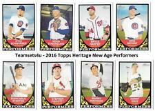 2016 Topps Heritage New Age Performers Baseball Set ** Pick Your Team **