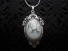 JESUS CROWN OF THORNS CHRISTMAS CAMEO NECKLACE-CHOOSE FROM 3 SETTINGS-- HOLIDAY