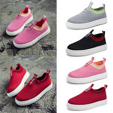 Kids Boys Girls Mesh Breathable Slip-On Trainers Flat Soft Casual Shoes Loafer