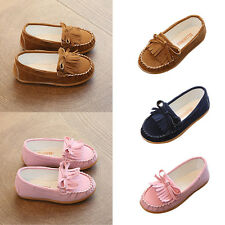 Children Kids Toddler Girls Bow-Knot Slip On Soft Tassel Moccasin Shoes Loafers