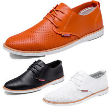 New Mens Smart Formal Casual PU Leather Lace Up Shoes Dress Party Work Office PY