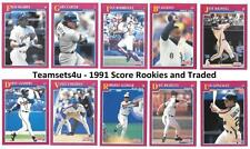 1991 Score Rookies and Traded Baseball Set ** Pick Your Team **