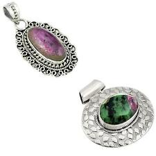 925 sterling silver ruby zoisite pendant jewelry by jewelexi 3701B