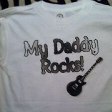 MY Daddy rocks kids shirt uncle rocks toddler tshirt funny daddy clothes shirt