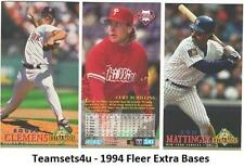 1994 Fleer Extra Bases Baseball Team Sets ** Pick Your Team Set **