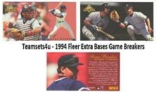 1994 Fleer Extra Bases Game Breakers Baseball Set ** Pick Your Team **
