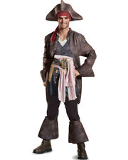 Mens Deluxe Pirates Of The Caribbean 5 Captain Jack Sparrow Costume