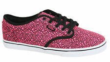Vans Atwood Lo Pink Black Lace Up Womens Canvas Trainers Plimsolls NJO7II Vans E