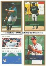 2000 Just Justifiable Gold Baseball Set ** Pick Your Team **