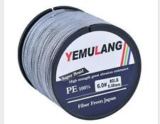 Fishing Line 500M Extreme PE Braided Line Agepoch Dyneema Spectra Sea Sports New