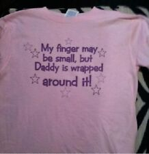 funny girls toddler shirt daddy wrapped around my finger kids girls new tshirt