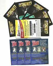 2017 Topps Series 2 Lot of (6) Codes for MLB The Show 17 Unused Codes + Bonus!