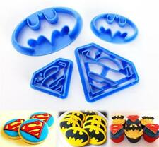 4Pcs Batman Superman Superhero Silicone Mould for Cake Icing Decoration New C