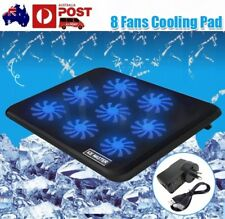 """Strong 1/5 / 8 Fans LED USB Port Cooling Stand Pad Cooler Notebook 7""""-17"""" Laptop"""