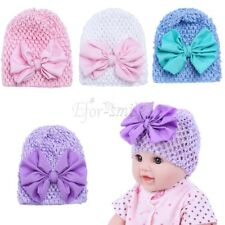 Newborn Baby Infant Girl Toddler Comfy Knitted Big Bow Cap Beanie Elastic Hat