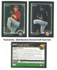 2010 Bowman Draft Chrome Baseball Set ** Pick Your Team **
