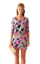 NWT 168.00 LILLY PULITZER CARA DRESS XS BRIGHT NAVY IN THE VIAS