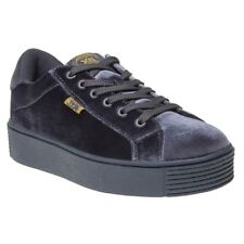 New Womens XTI Grey 47506 Textile Trainers Flats Lace Up