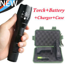 15000LM Zoom XML T6 LED Ultrafire Flashlight Torch+18650 Battery Charger Case