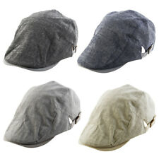 Linen Summer Newsboy Duckbill Ivy Cap Cabbie Driving Golf Casual Flat Beret Hat