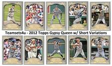 2012 Topps Gypsy Queen w/ Variation Baseball Set ** Pick Your Team **