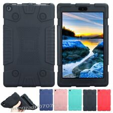"""Shockproof Soft Silicone Case Cover For 8"""" Amazon Kindle New Fire HD 8 2017+Film"""