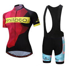 2017 New women Cycling Jersey set Bicycle Short Sleeve Outdoor Bike Clothing