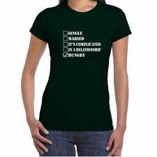 ALM786t-Womens Funny Slogans T Shirts-Single, Married Hungry tshirt