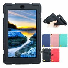 """Shockproof Soft Silicone Case Cover For 7"""" Amazon Kindle Fire 7 2017 Tablet+Film"""