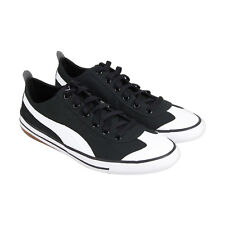 Puma 917 Fun Mens Black Canvas Lace Up Lace Up Sneakers Shoes