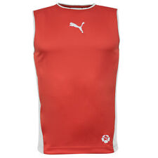 Puma Cat Velocity Running Sleeveless Vest Mens Red White 650226 20 UA68