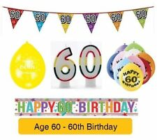 AGE 60 - Happy 60th Birthday Party Banners, Balloons & Decorations