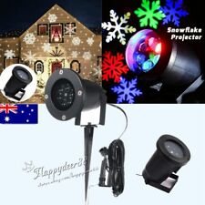 Outdoor LED Moving Motion Snowflake Star Laser Projector Lamp Xmas Garden Light
