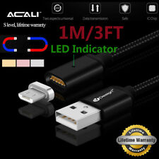 ACALI Braided Micro USB Rapid Charging Charge Cable Cord+Strong Magnetic Adapter