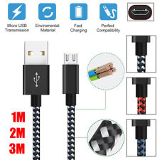 3FT/6FT/10FT 2.4A Micro USB Cable Data Sync Rapid Charging Strong Braided Cords