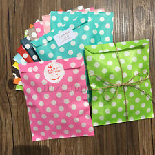 25X Polka Dots Paper Party Candy Bags Stickers / 10M Strings Wedding Favour Bags