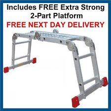 "NEW Superior ""BIG RED FOOT"" 2.35m Multi Purpose Ladder / Ladders"