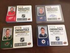 2017-18 Upper Deck MVP NHL Player Credentials Level 1,2,3,4 Access #NHL- Singles