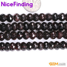 """Natural Rondelle Faceted Red Garnet Stone Heishi Spacer Beads Jewelry Making 15"""""""