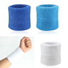 2X Sweatbands Wristband Tennis Squash Badminton Gym Football Wrist Bands