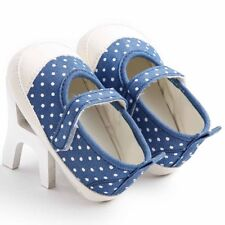 Baby Girls Toddler Shoes Spring Autumn Blue Dot pattern Soft Bottom Canvas Shoes