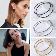 Chic Big Circle Large Round Hoop Dangle Earrings Studs Gold Silver Women Jewelry