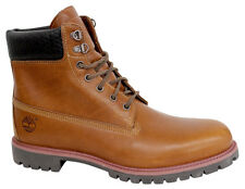 Timberland 6 Inch Premium Woven Mens Boots Brown Leather Lace Up Shoes 9633B D86