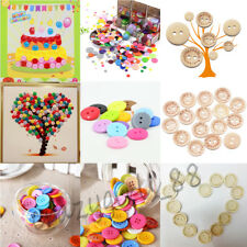 9-25mm Colorful Love Resin Flat Button 2 Holes Clothes Sewing Scrapbooking DIY