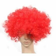 Set of 2 Halloween Costume Party Wigs Clown Hair, Red