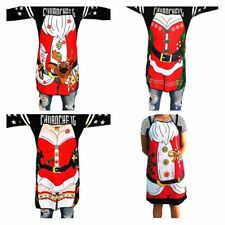 Kitchen Restaurant Bib Aprons Christmas Costume Apron Funny Gift Waterproof EA
