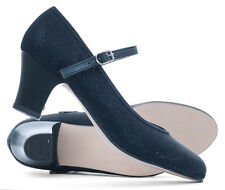 """Black Glitter Sparkly Character Stage Showtime Dance Shoes 2"""" Heel By Katz"""
