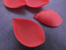 21x30mm 25/50pcs FROSTED DARK RED ACRYLIC PLASTIC PETAL BEADS CHARMS TY85803