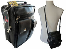 Mens Mans Travel Utility Bags Leather Shoulder Man Bag Holster Roamlite RL504M