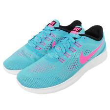 Wmns Nike Free RN Run Blue Pink Womens Running Shoes Trainers Sneaker 831509-401
